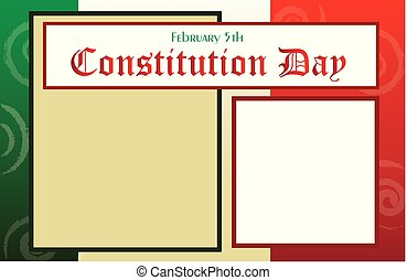 Constitution Day Postcard border background - Mexico...