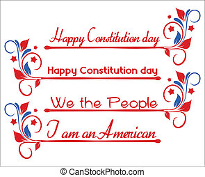 Constitution Day - Text Banners - Drawing Art of Banner Text...