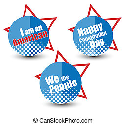 Constitution Day Vector Badges