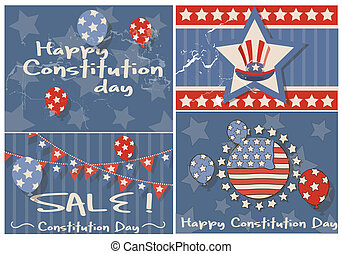 Constitution Day Vintage Background