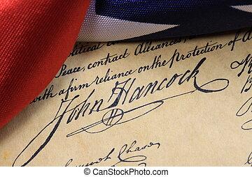 Constitution John Hancock - John Hancock's signature on the...