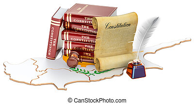 Constitution of Cyprus concept, 3D rendering