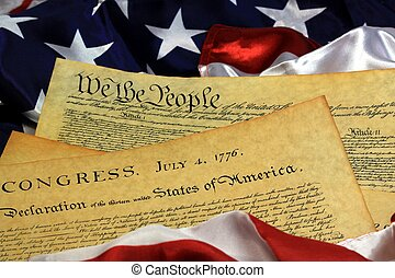 Preamble to the Constitution United States of America Historical Document - We The People Bill of Rights