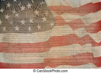 Constitution of USA  - patriotic background