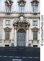Constitutional Court of the Italian Republic (Palazzo della Consulta) on Piazza del Quirinale  in Rome, Italy