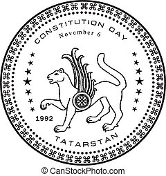 Constitutional Day of Tatarstan, on the 6th of November 1992. Vector illustration.