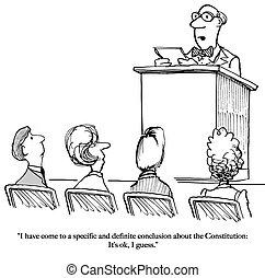 Constitutional scholar - A constitutional scholar concludes...
