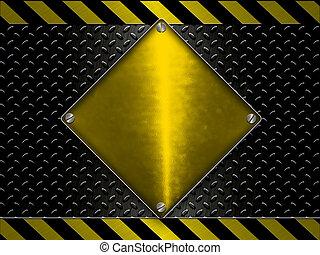 construção, -, aviso, perigo, linhas, fundo