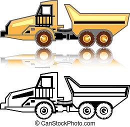construção, caminhão