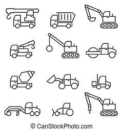 construção, car, jogo