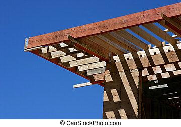 construção casa, durante