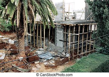 construção casa, local, privado