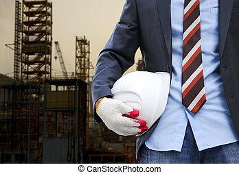 construção, conceito, segurança