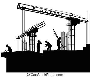 construção, construtores, local