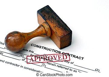 construção, contrato