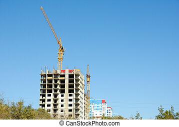 construção, de, edifício escritório