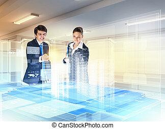 construção, e, inovação, tecnologias