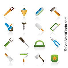 construção, e, predios, ferramentas