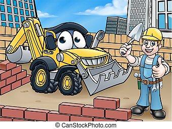 construção edifício, local, cena