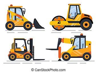 construção edifício, maquinaria, equipamento