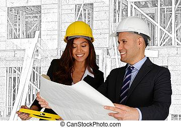 construção, equipe