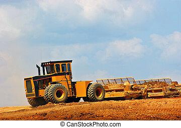 construção, equipment.