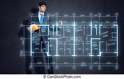 construção, esquema
