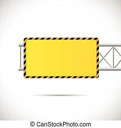 construção, estrada, ilustração, sinal