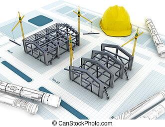 construção, fábrica
