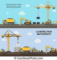 construção, fundo, ilustração
