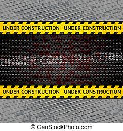 construção, fundo, modelo, sob