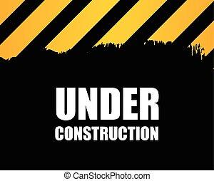 construção, -, fundo, sob