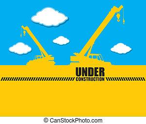 construção, fundo, sob