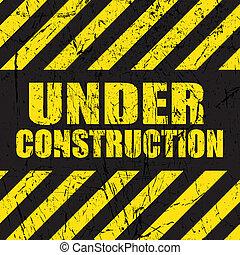 construção, grunge, fundo, sob