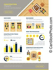 construção, infographic, jogo