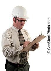 construção, inspetor, 4