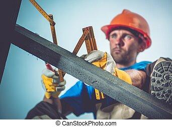 construção, medindo