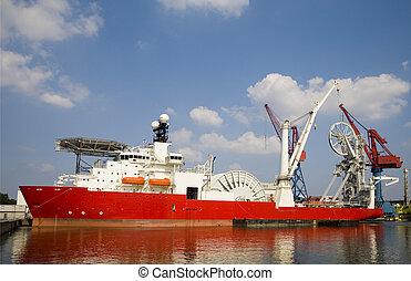 construção, navio, 1