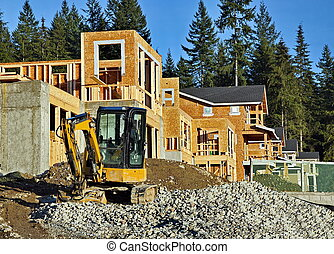 construção, novo, local