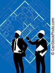 construção, pessoas