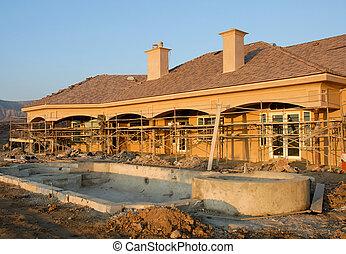 construção, residencial, local