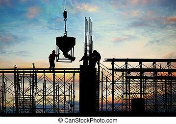 construção, silueta