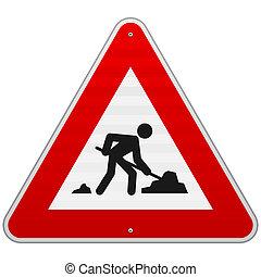 construção, sinal estrada