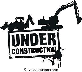 construção, site web