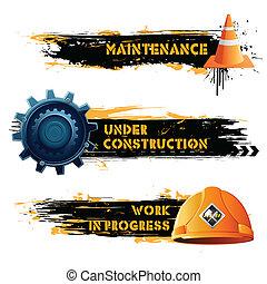 construção, sob