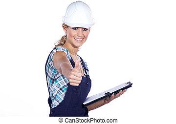 construção, supervisor