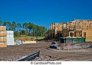 construção, townhouse