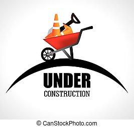 construção, vetorial, desenho, Ilustração