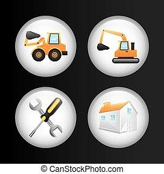 construções, ícones