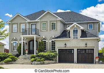 construído, subúrbios, casa, costume, toronto, luxo, canada.